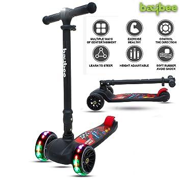 Baybee SPEEDFORCE 3 Wheel Folding Kick Kids Scooty Scooter Tricycle for Indoor & Outdoor…