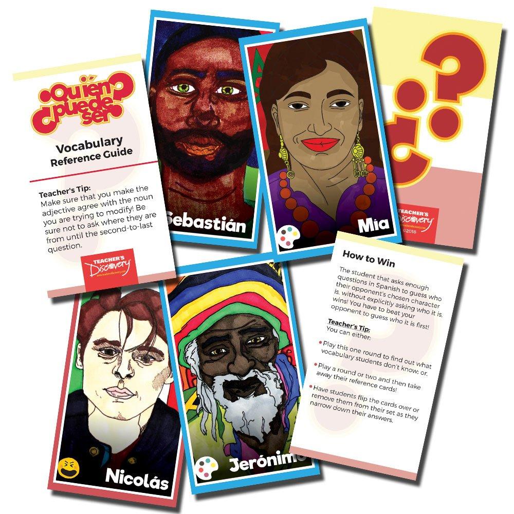 ¿Quién puede ser? Spanish Card Game