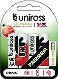 Uniross U0239790 Pile rechargeable 2400 mAh 1,2V Rouge