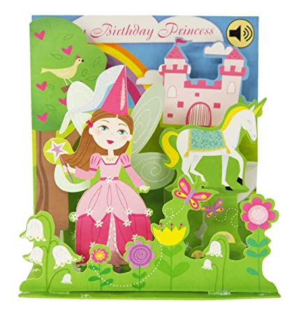 Amazon 3D Pop Up Fairy Princess Birthday Card With Sound
