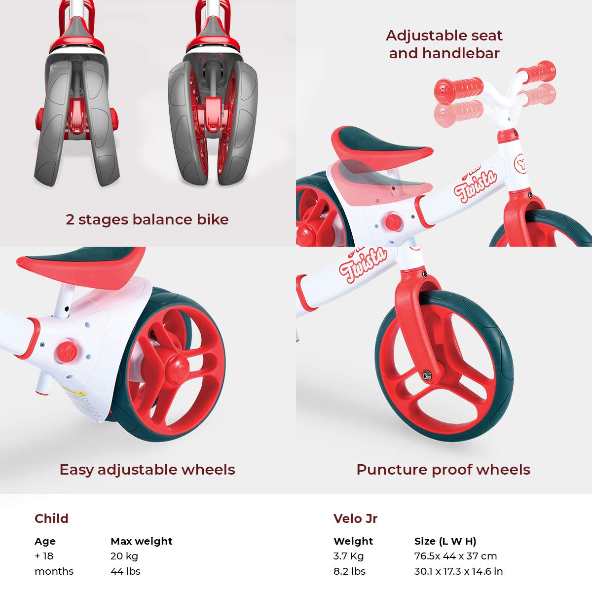 Pleasing Yvolution Y Velo Twista Baby Balance Bike Walking Bicycle With Adjustable Wheels And Seat 18 Months Pdpeps Interior Chair Design Pdpepsorg