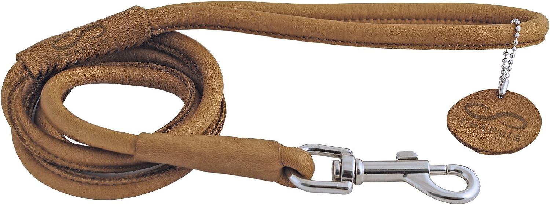 CHAPUIS SELLERIE SLA663 Correa Redonda Soft para Perro y Gato - Cuero marrón - Diámetro 4 mm - Largo 1,22 m - Talla XS