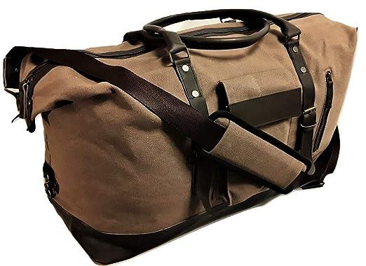 Duffle Bag Canvas large leather 1230b831b