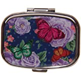 PRETTY BUTTERFLY TWO SECTION PILL BOX