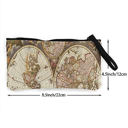 Amazon.com: Monedero Vintage Mapa Papel pintado Cueva Teen ...