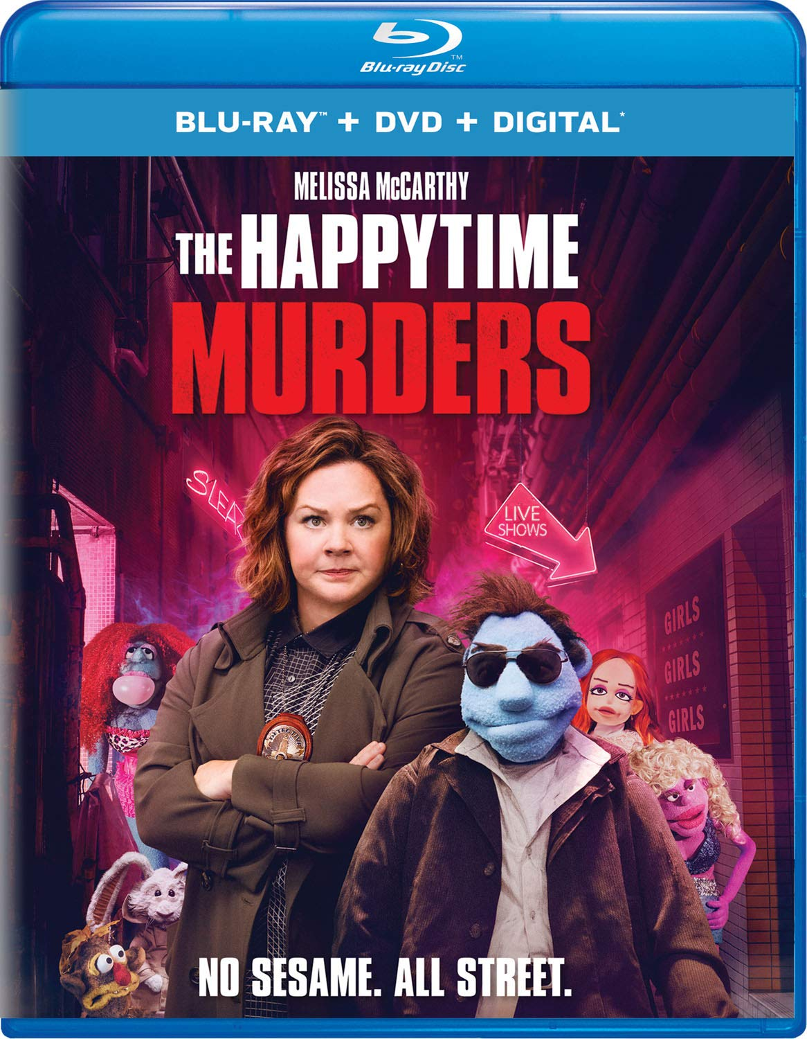 Blu-ray : The Happytime Murders (With DVD, 2 Pack, Digital Copy)