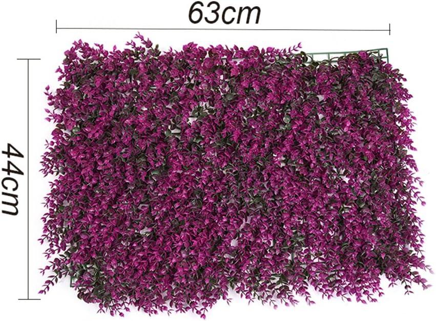 pianta artificiale L 63,5/cm x l 38,1/cm siepe di bosso artificiale LianLe decorazione per interni//esterni I: Purple