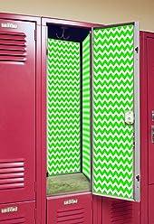 Back to School Magnetic Locker Wallpaper - Chevron (Lime)