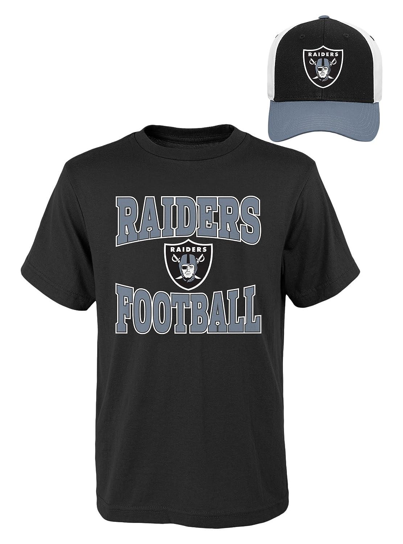 NFL Youthボーイズ半袖Tシャツと帽子セット Youth Boys Small(8) ブラック   B01MEGF6LO