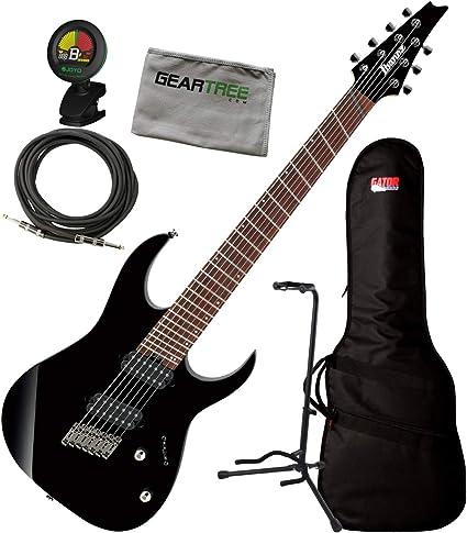 Ibanez RGMS7 BK Black RG - Guitarra eléctrica de 7 cuerdas con ...