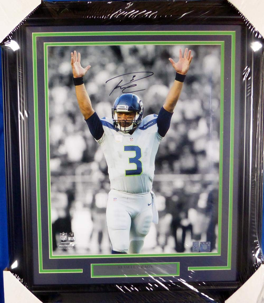 Signed Wilson Picture Framed 16x20 RW Holo Stock #126673 Autographed NFL Photos