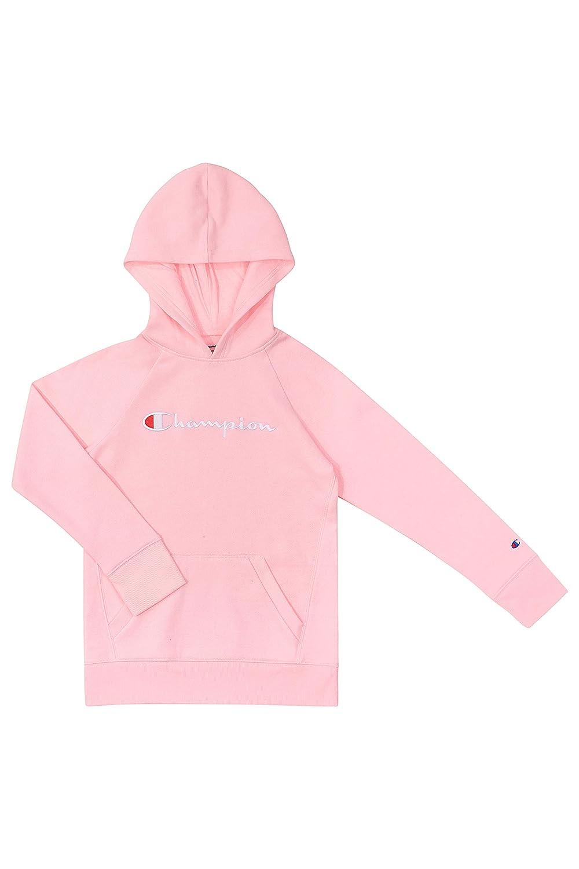 Champion Kids Clothes Sweatshirts Girls Youth Heritage Fleece Pull On Hoody Sweatshirt with Hood Plum