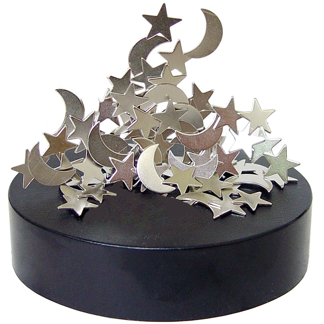 AblueA Magnetic Sculpture Desk Toy Coffee Table Piece As Office Gift Stocking Stuffer (Oval Base - Moons&Stars)