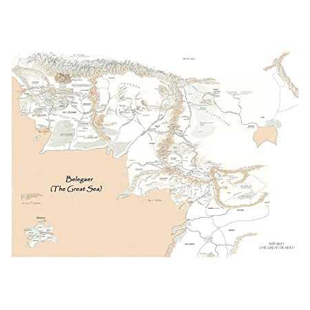 Fabulous Poster Cartel Mapa De La Tierra Media(31cmx42cm ...