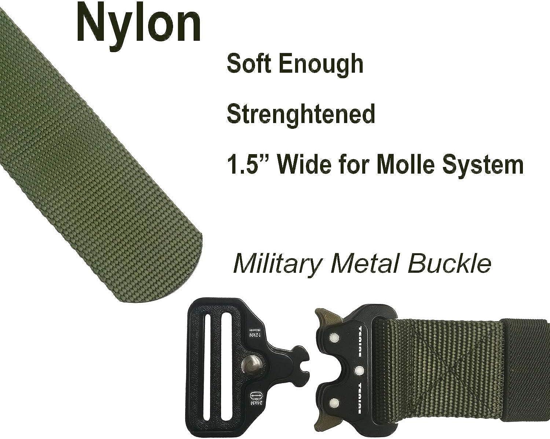 MOLLE Taillenpolsterg/ürtel mit verstellbaren Tr/ägern f/ür Jagdschie/ßspiele Paintball Bnineteenteam Tactical Combat Belt