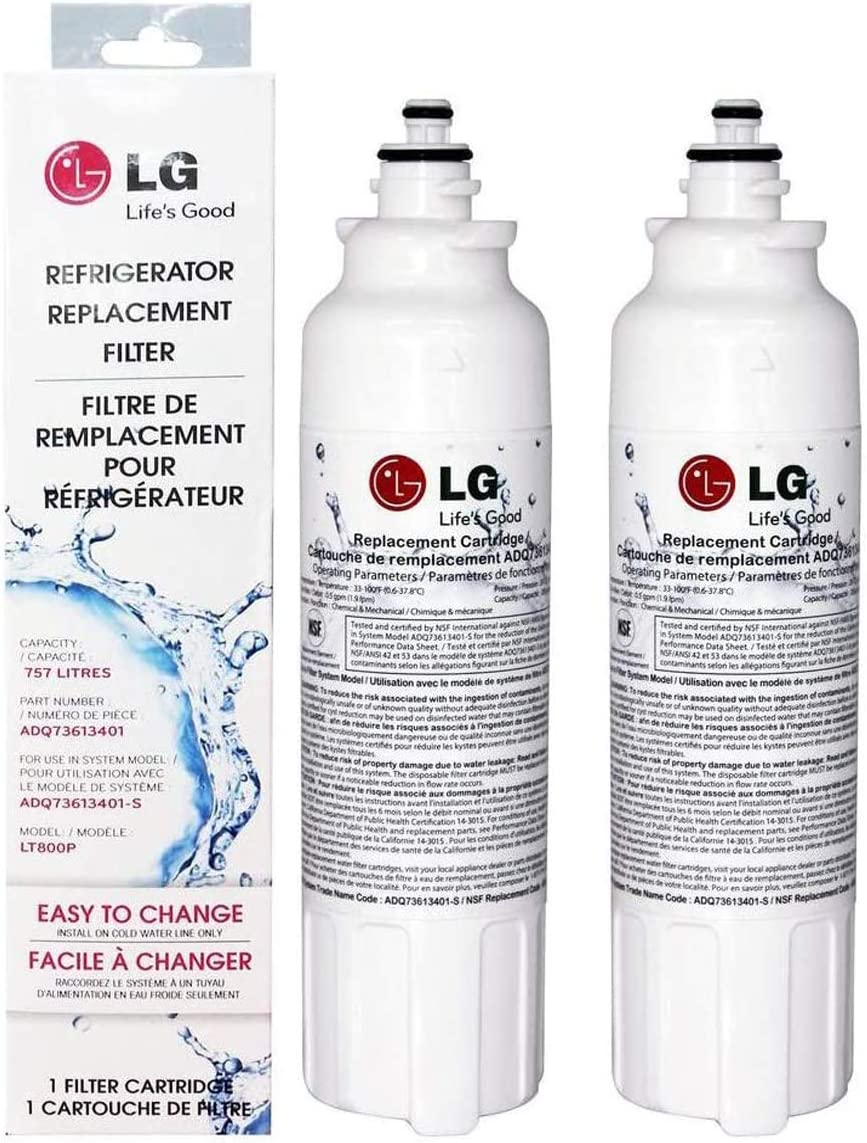 LT800P Refrigerator Water Filter Certified Replacement Fit for LG LT800P,ADQ73613401,ADQ73613402, ADQ73613403, Kenmore 9490, 469490, LSXS26326S, LMXC23746S, LMXC23746D, LSXS26366S (2 PACK)