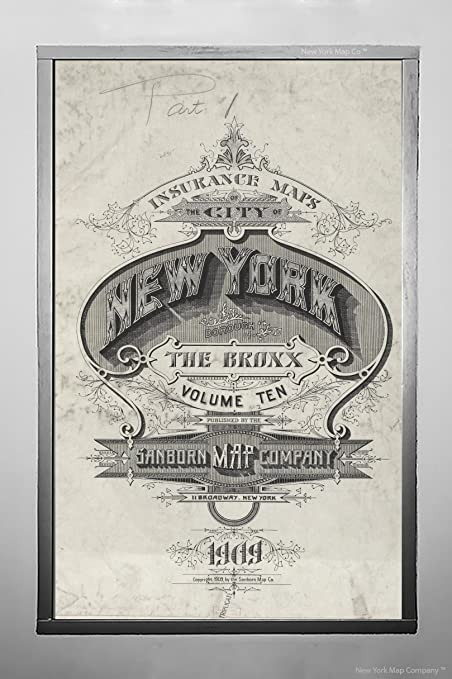 Amazon.com: 1884 Map York Insurance Maps The City York. Borough The on