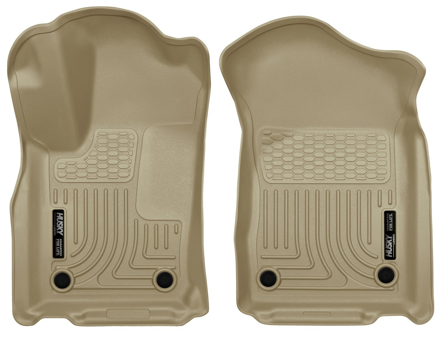 Husky Liners 99153 Tan Front & 2nd Seat Floor Liners Fits Dodge Durango, 16-19 Jeep Grand Cherokee