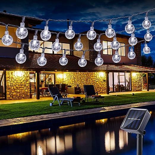 50 LED Matrimonio Natale da Esterno da Giardino ad Energia Solare Lucine a colori