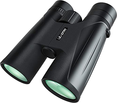 LeadTry Binoculars for Adults,10×42 Compact HD Binoculars with FMC Optics BAK4 Porro Prism,IPX7 Level waterproof Fogproof,Best Choice for Bird Watching Hunting Hiking Travel Stargazing Concerts Sport