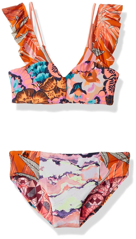 Maaji Girls' Mixed Print Flutter Sleeve Bikini Swimsuit Set Maaji Children' s Apparel