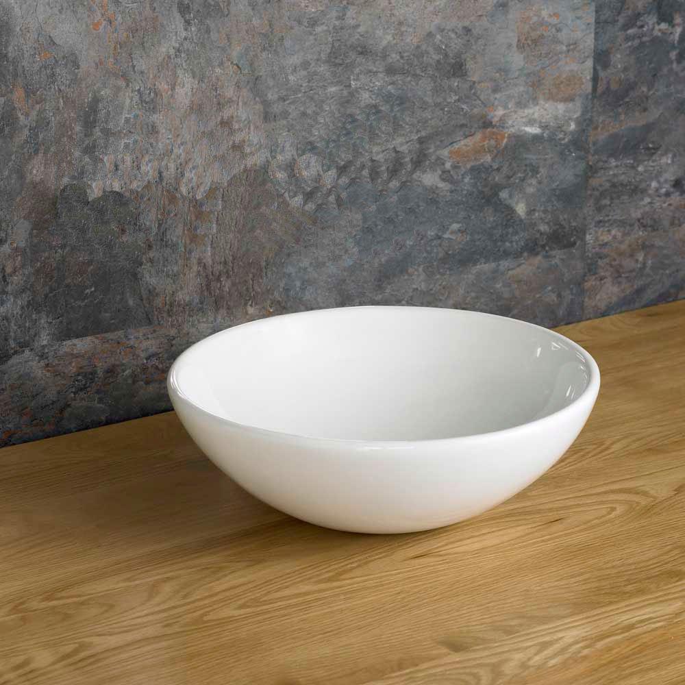 Clickbasin Gela 28.5cm Compact Round Countertop Bathroom Basin