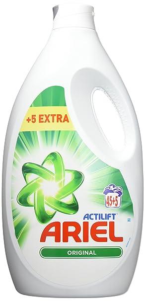 Ariel Actilift - Detergente líquido para lavadora - 3250 ml ...