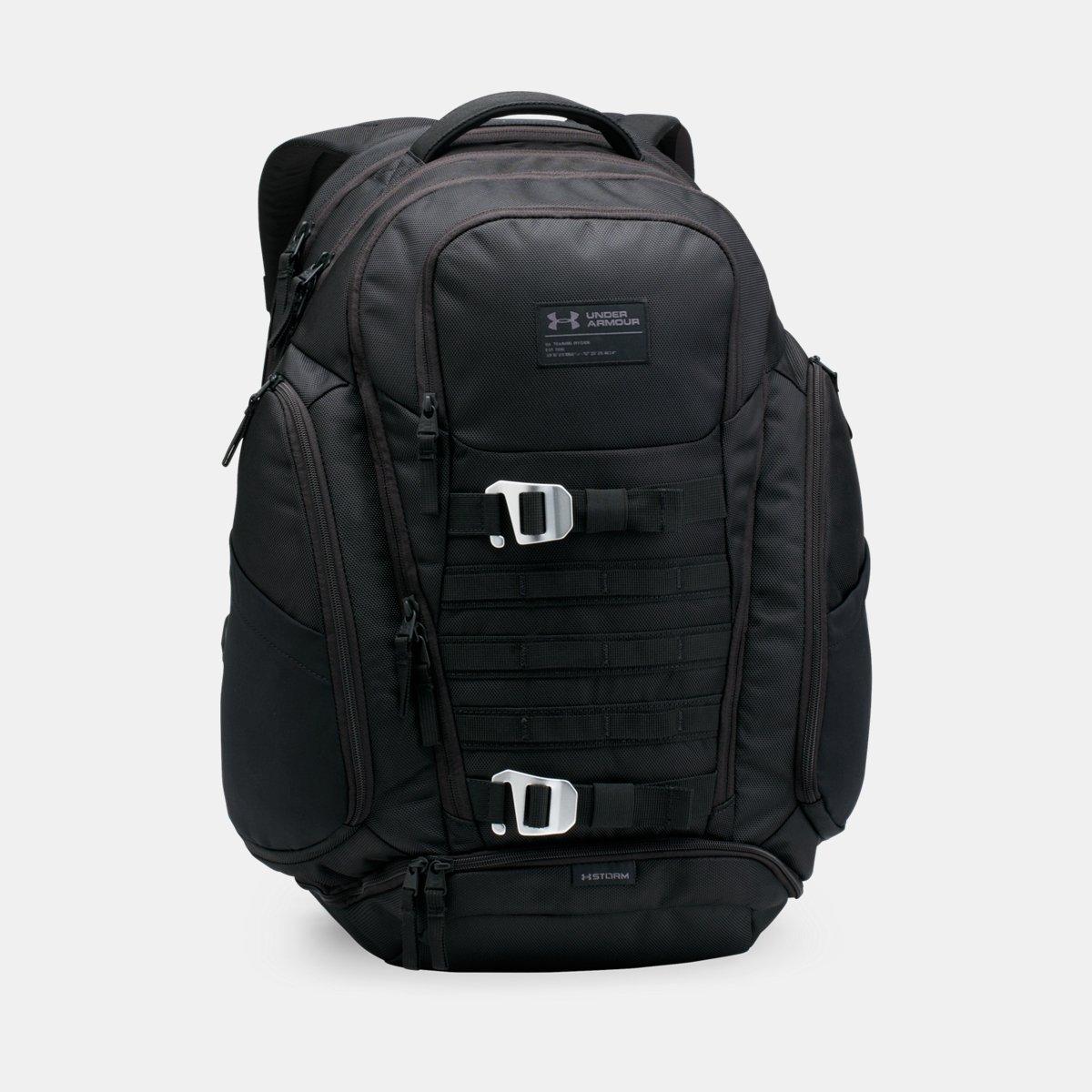 [UNDER ARMOUR] アンダーアーマー Men's UA Huey Backpack Black /Black [並行輸入品] B075376NF3