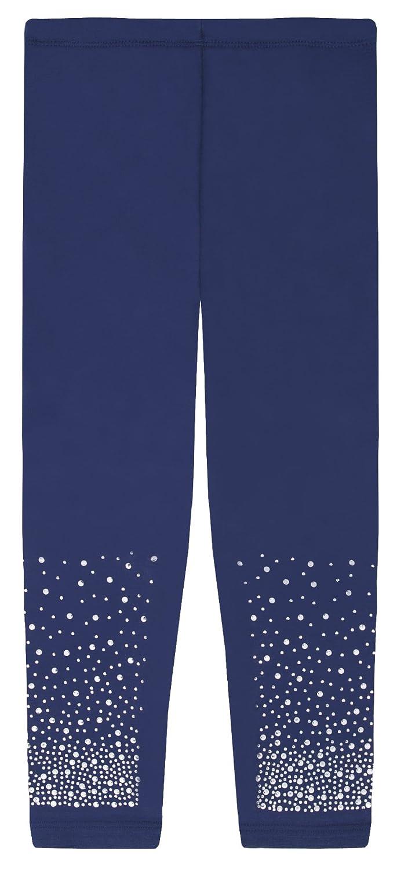 Lovetti Girls Basic Full Length Leggings with Rhinestone 13120