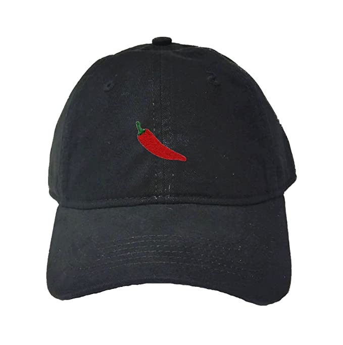 47a64e7b30e Amazon.com  Adjustable Black Adult Hot Pepper Embroidered Deluxe Dad ...