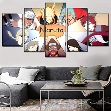 Amazon.com: WLHWLH Home Decorative Wall Art Picture 5 Panel ...