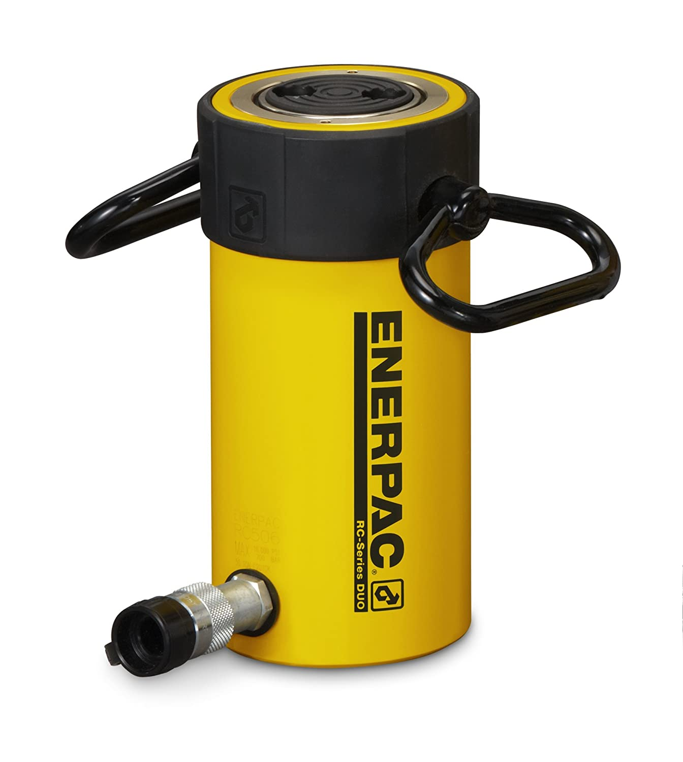 Single Port Enerpac RC-502 Single-Acting Alloy Steel Hydraulic Cylinder with 50 Ton Capacity 2 Stroke