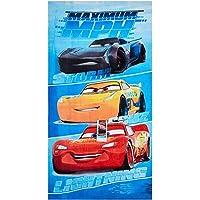 Toalla de playa de Disney Cars Maximum MPH, toalla de baño, toalla de 70 x 140 cm con Storm, Cruz y Lightning McQueen de…