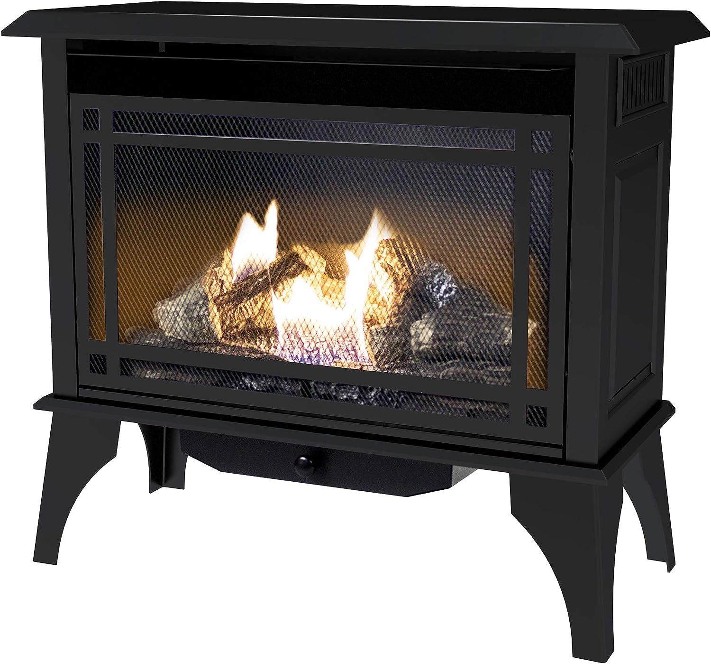 Amazon Com Pleasant Hearth Vfs2 Ph30dt 30 000 Btu 32 Inch Intermediate Gas Vent Free Stove Black Home Kitchen