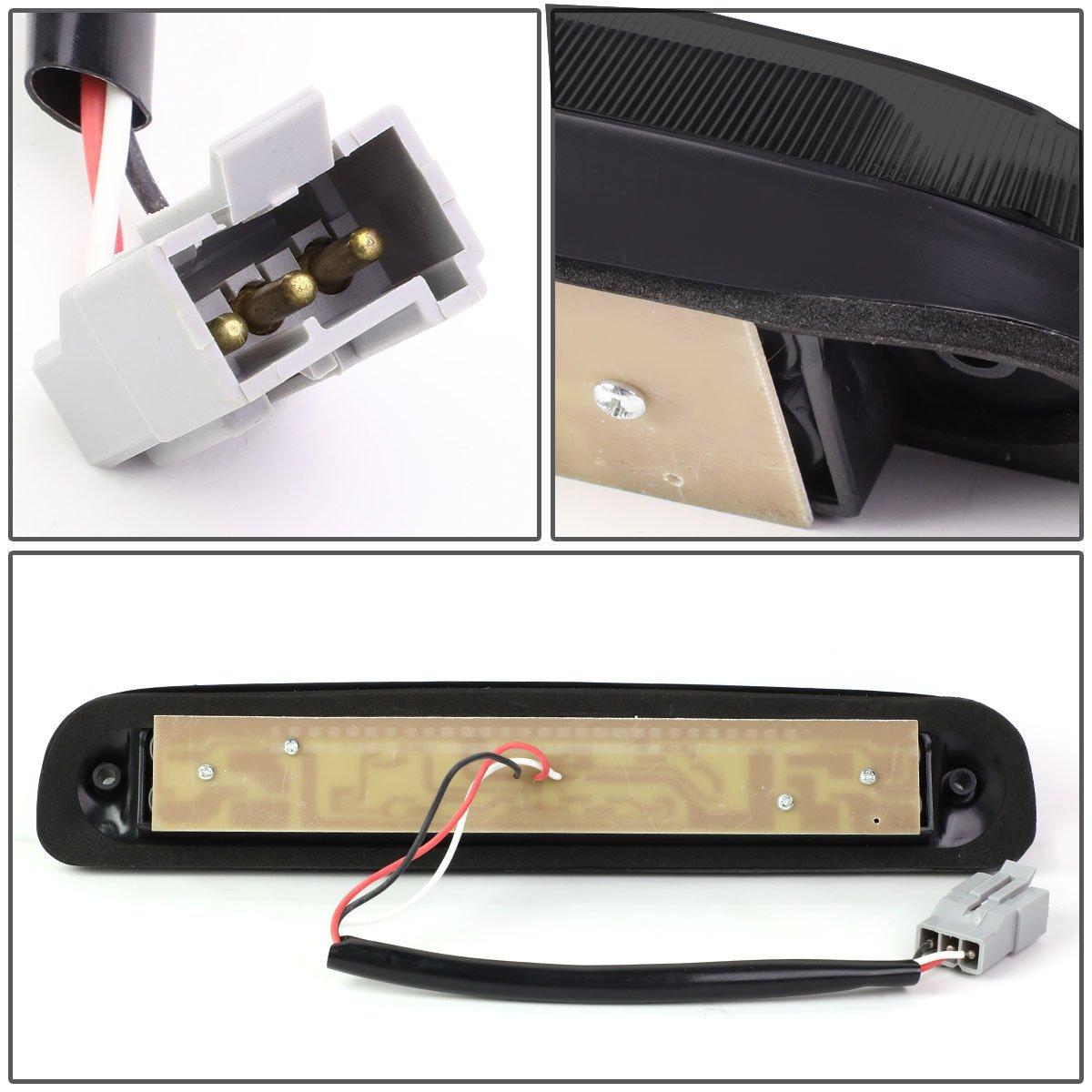For B-Series//F-Series//Ranger 3D LED Light Bar Third Tail Brake Lamps Red Lens 11th 12th