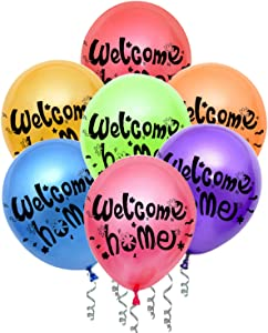 JumDaQ Welcome Home Balloons for Welcome Home Decoration Family Party Supplies (21 Pack Random)