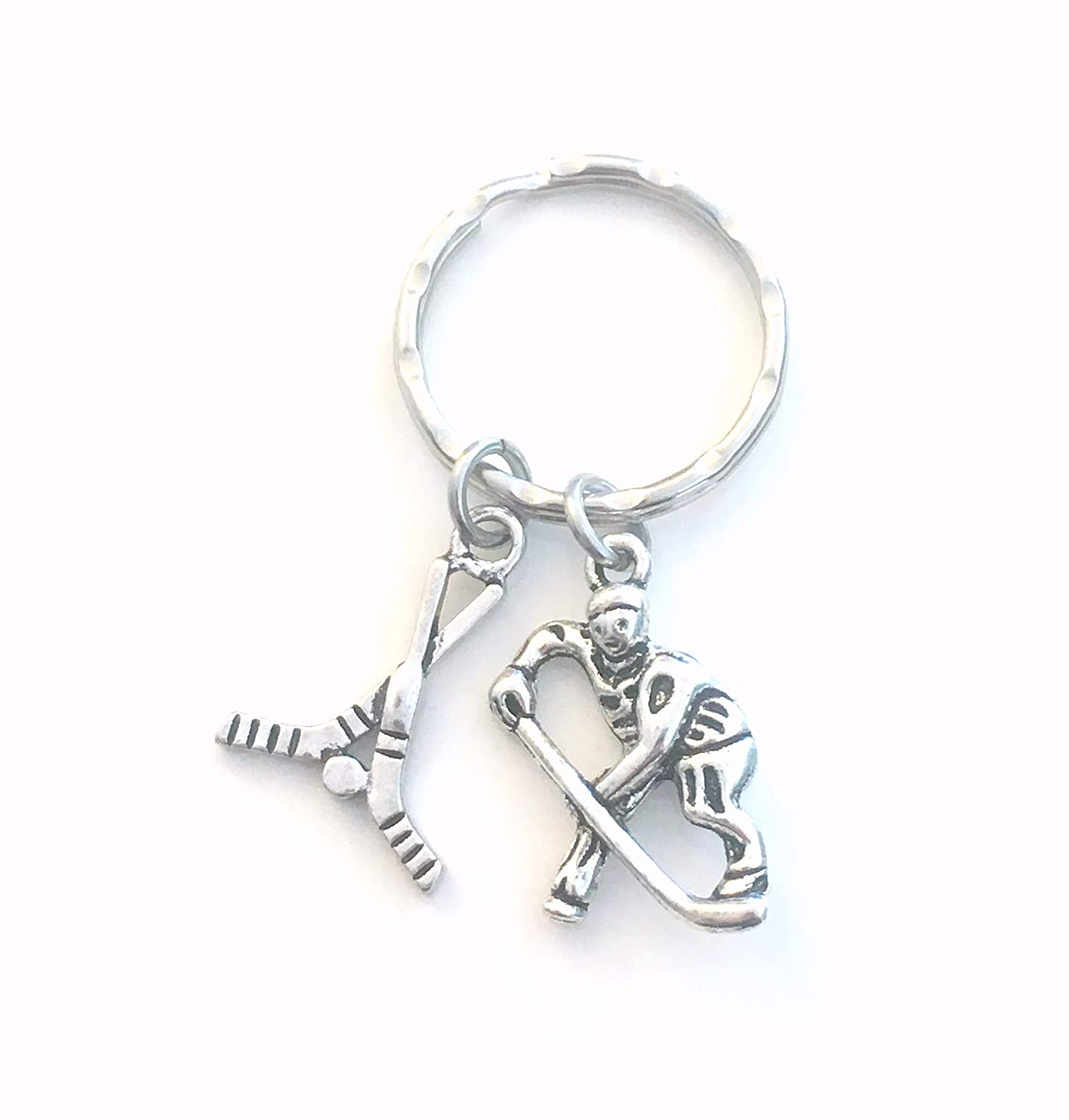 Ice Hockey Keychain, Gift for Coach or Player's Key Chain Gift for Coach or Player' s Key Chain