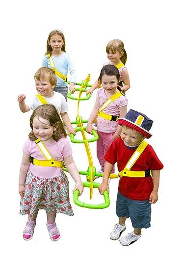 Grab /& Go Childrens Walking Rope 6 child Teacher Approved Safety Walk In Line Ropes For Preschool Kids Includes Free Learning Games for Walks Guide. with Safe Hi-Viz Details