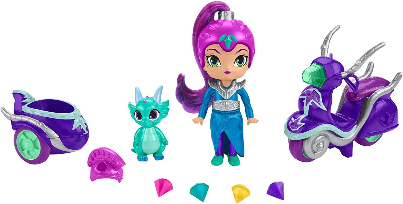 Shimmer y Shine Zeta y su moto, muñeca con accesorios (Mattel FHN31)