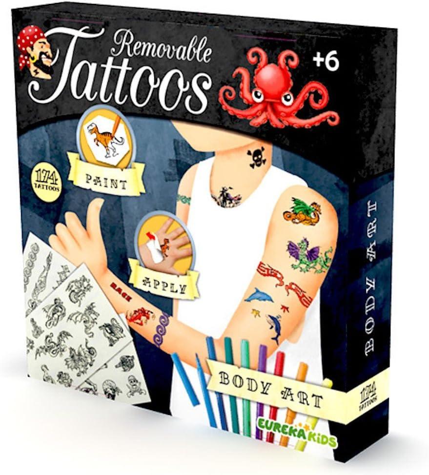 EUREKAKIDS Eureka Kids- Tatuajes para niños 23155421: Amazon.es ...
