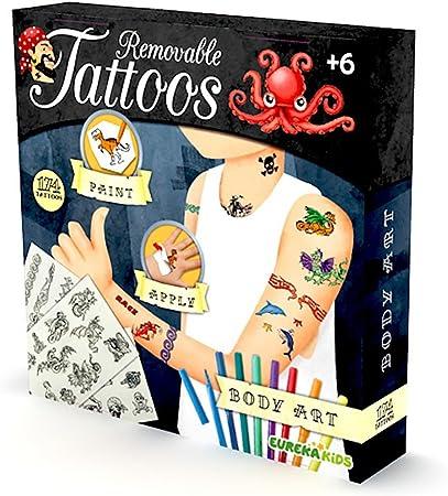 EUREKAKIDS Eureka Kids- Tatuajes para niños 23155421: Amazon.es: Juguetes y juegos