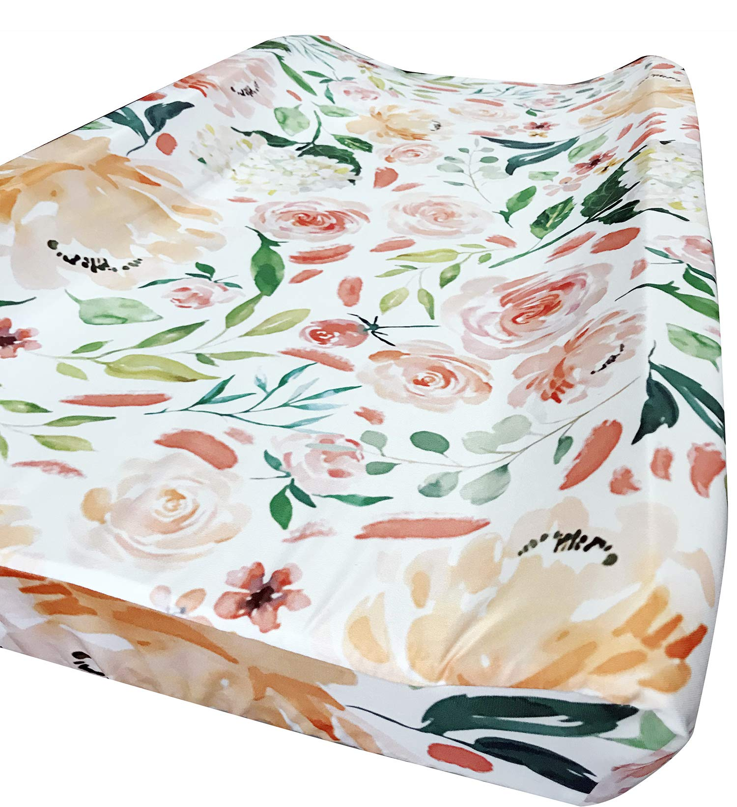 Baby Girl Crib Bedding Floral Changing Pad Cover (Secret Garden) by Sahaler