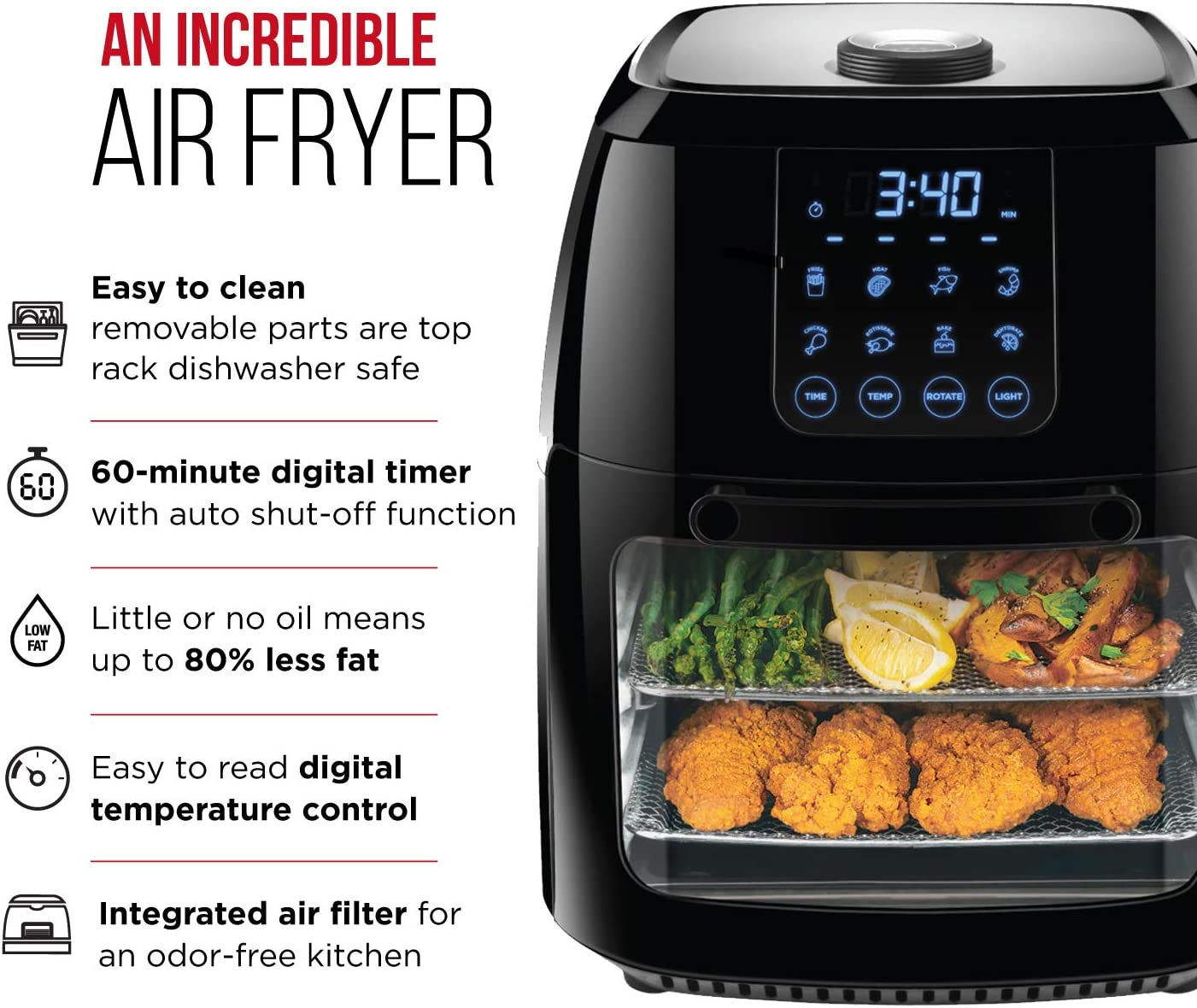 1. Chefman 6.3 QTAir Fryer