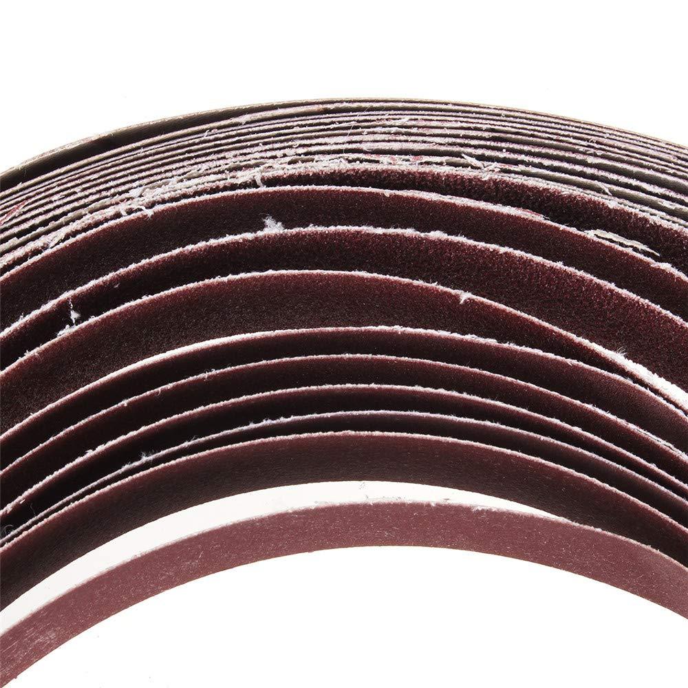 KingLan 10Pcs 40 para 1000 Grit 30Mm X 580Mm Correas De Lijado para El Accesorio De Lijadora De Correa Uso Motor//Esmeriladora Angular #60