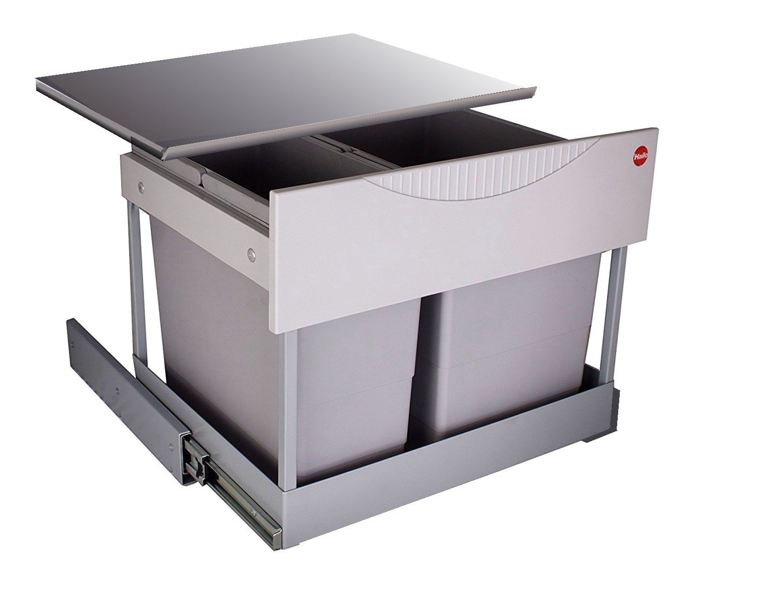 Hailo 3644801 Waste Bin, TR Swing, 60.2/30M, for Cabinets that are 600 mm wide with Hinged Door