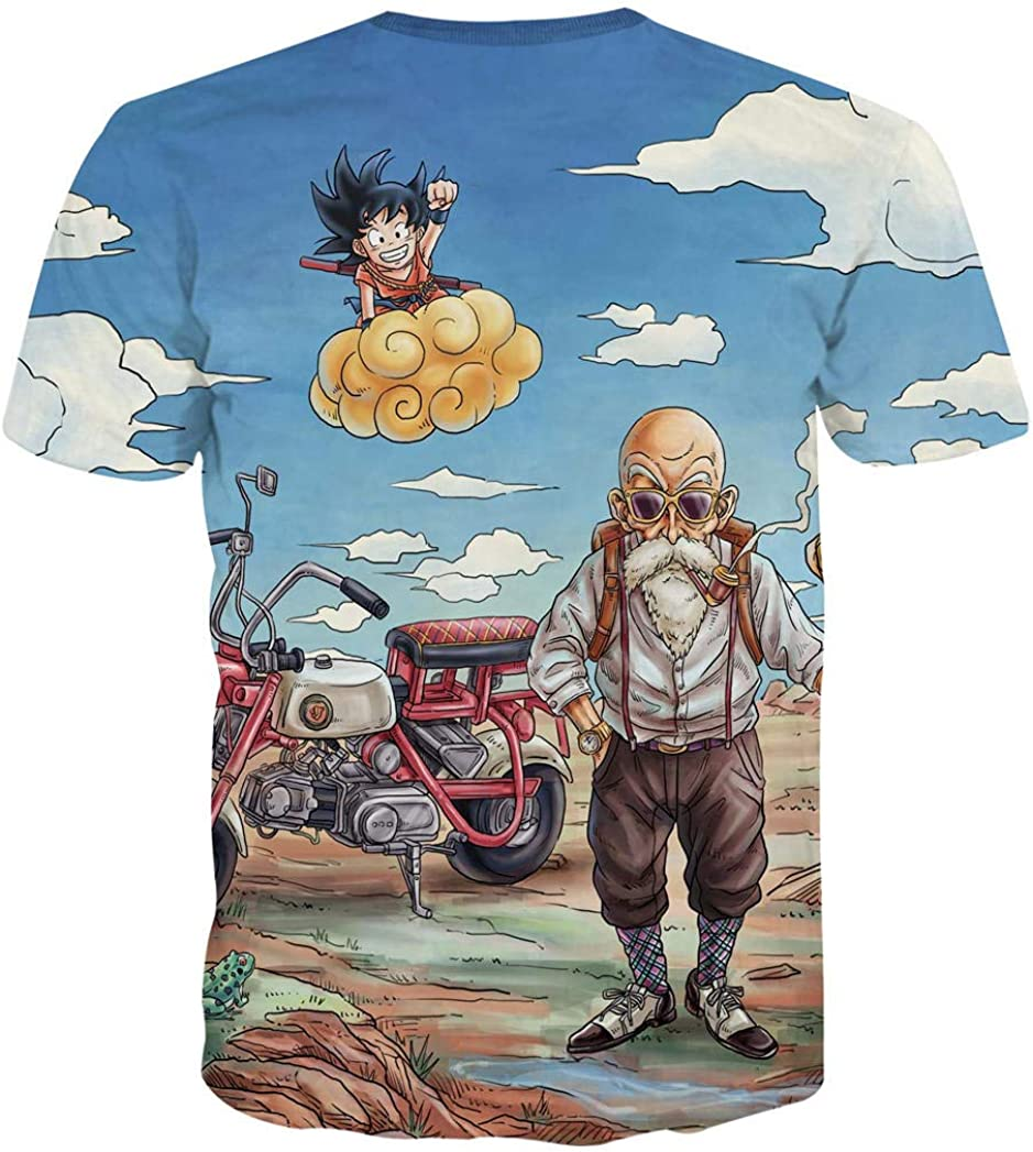 Camisetas,Dragon Ball Anime 3D Impresión Digital Manga Corta ...