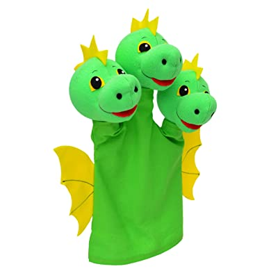 ABA 31cm Dragon trois tête Marionnette à Main (Multicolore)