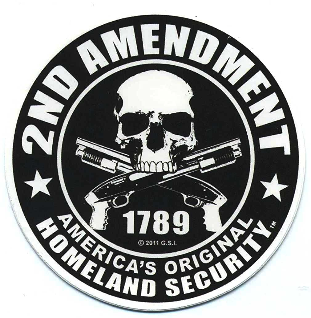 Motorcycle Helmet Sticker 2nd Amendment America's Original Homeland Security