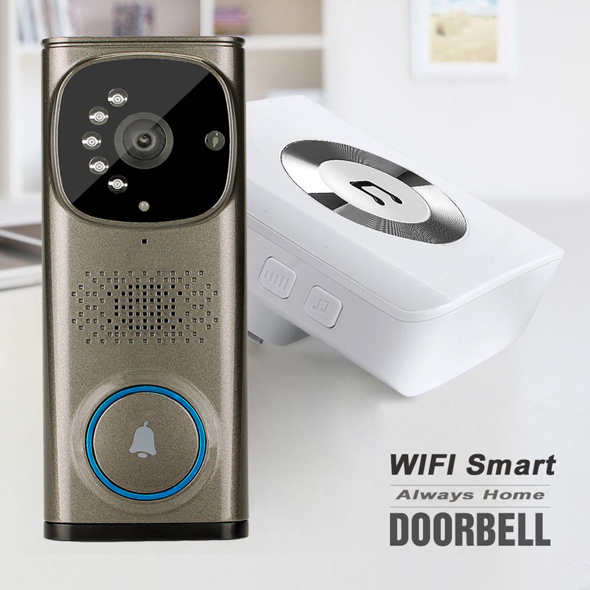TIVDIO WD-613 Wi-Fi Video Doorbell Video Door Phone Intercom with 1 ...