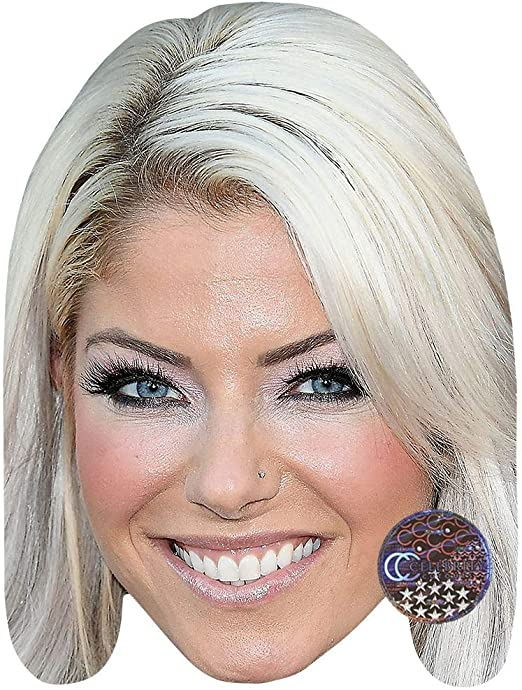 Alexa Bliss Celebrity Mask Card Face and Fancy Dress Mask